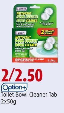 Option+ Toilet Bowl Cleaner Tab 2x50g