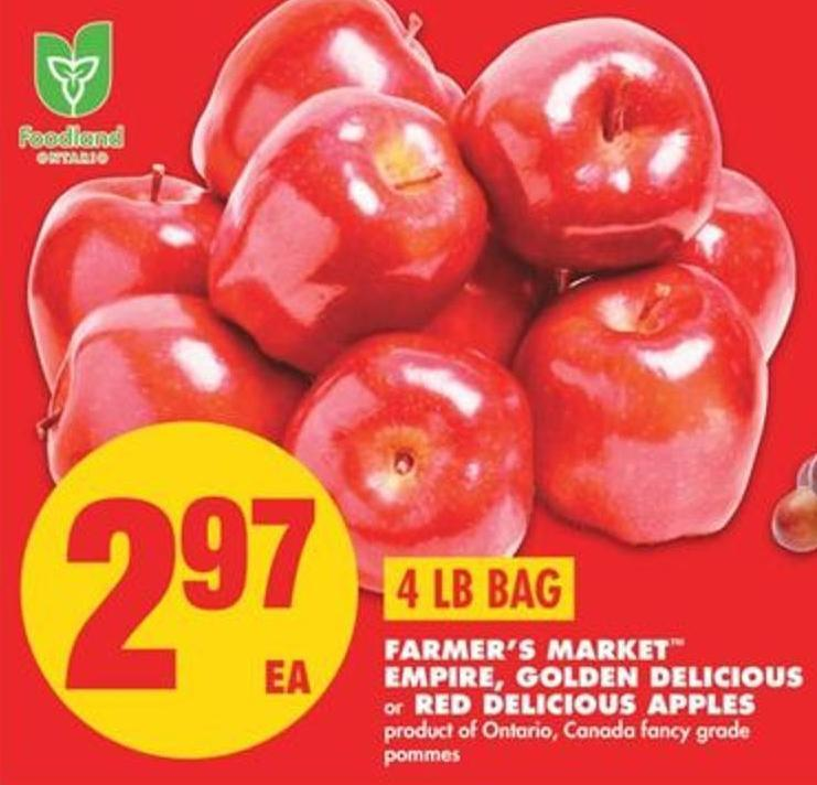 Farmer's Market Empire - Golden Delicious Or Red Delicious Apples - 4 Lb Bag