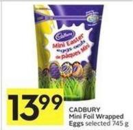 Cadbury Mini Foil Wrapped Eggs Selected 745 g