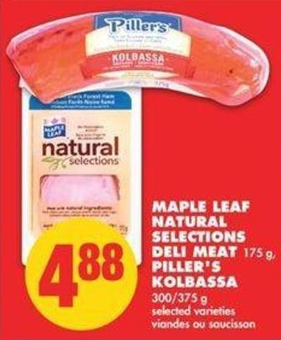 Maple Leaf Natural Selections Deli Meat 175 G - Piller's Kolbassa - 300/375 G