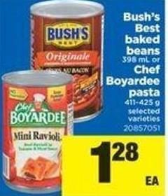 Bush's Best Baked Beans - 398 Ml Or Chef Boyardee Pasta - 411-425 G