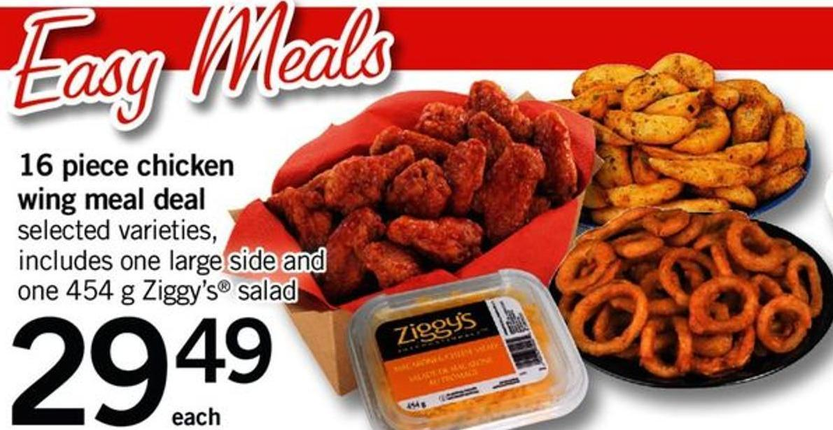 16 Piece Chicken Wing Meal Deal