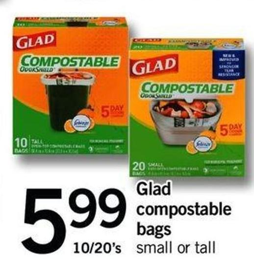 Glad Compostable Bags - 10/20's