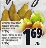 Forelle Or Bosc Pears