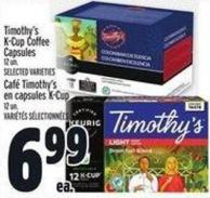 Timothy's K-cup Coffee Capsules