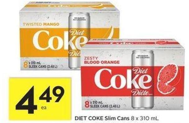 Diet Coke Slim Cans