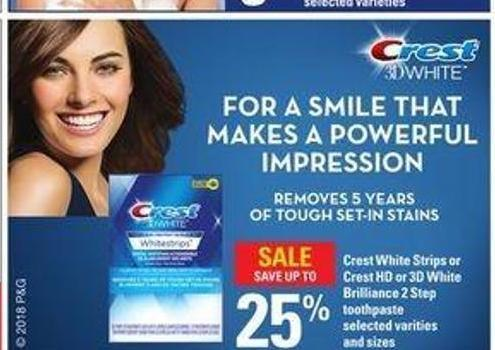 Crest White Strips Or Crest Hd Or 3D White Brilliance 2 Step Toothpaste