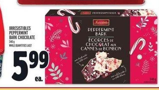 Irresistibles Peppermint Bark Chocolate
