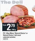 PC - Blue Menu Natural Choice Or Natural Choice Deli Meat