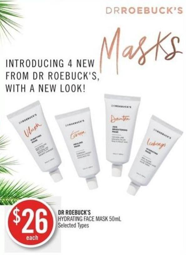 Dr Roebuck's Hydrating Face Mask 50ml