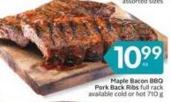 Maple Bacon Bbq Pork Back Ribs