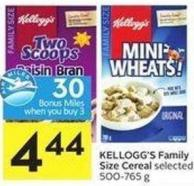 Kellogg's Family Size Cereal Selected 500-765 g - 30 Air Miles Bonus Miles