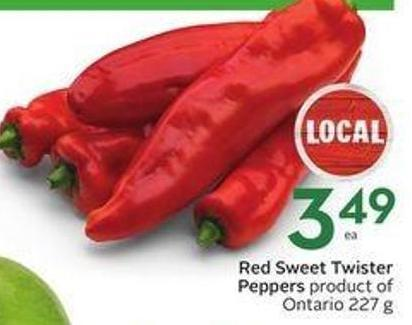 Red Sweet Twister Peppers
