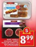 Marc Angelo Souvlaki Family Packs Or Turkey Or Beef Medallions