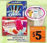 Selection Ice Milk Or Novelties