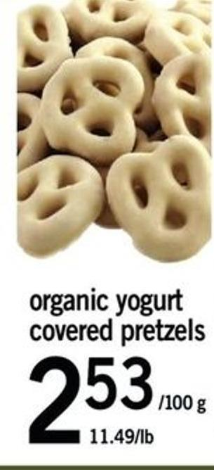 Organic Yogurt Covered Pretzels