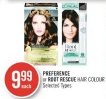 Preference or Root Rescue Hair Colour