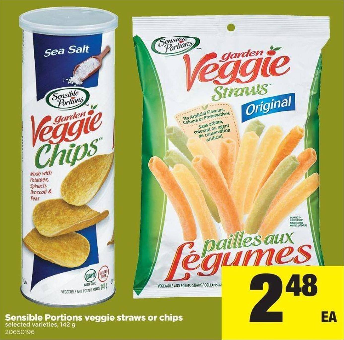 Sensible Portions Veggie Straws Or Chips - 142 G