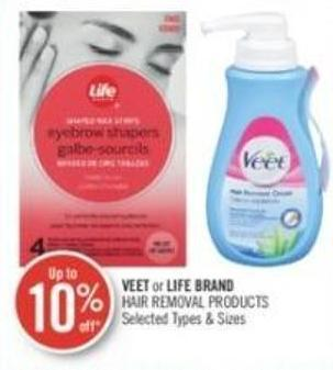 Veet or Life Brand Hair Removal Products