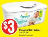 Pampers Baby Wipes 56-72 Pk