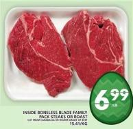 Inside Boneless Blade Family Pack Steaks Or Roast