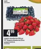 Organic Strawberries 454 g Or PC Organics Blueberries 9.8 Oz
