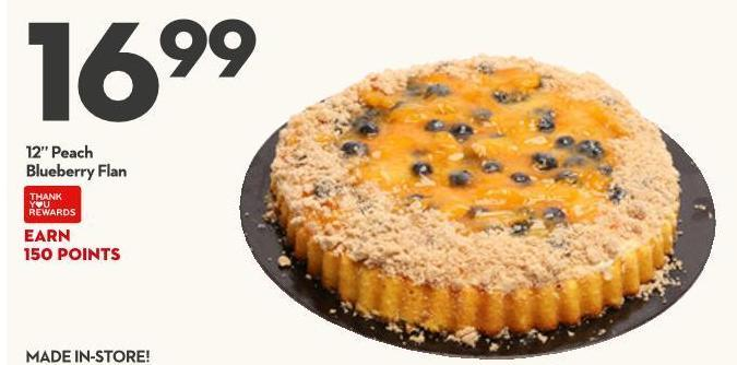 "12"" Peach Blueberry Flan"