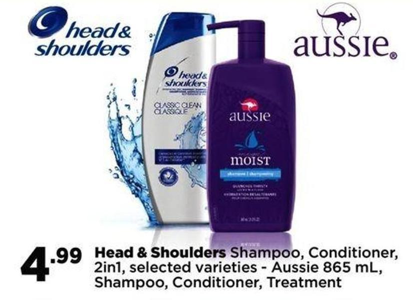 Head & Shoulders Shampoo - Conditioner - 2in1 Or Aussie 865 Ml - Shampoo - Conditioner - Treatment