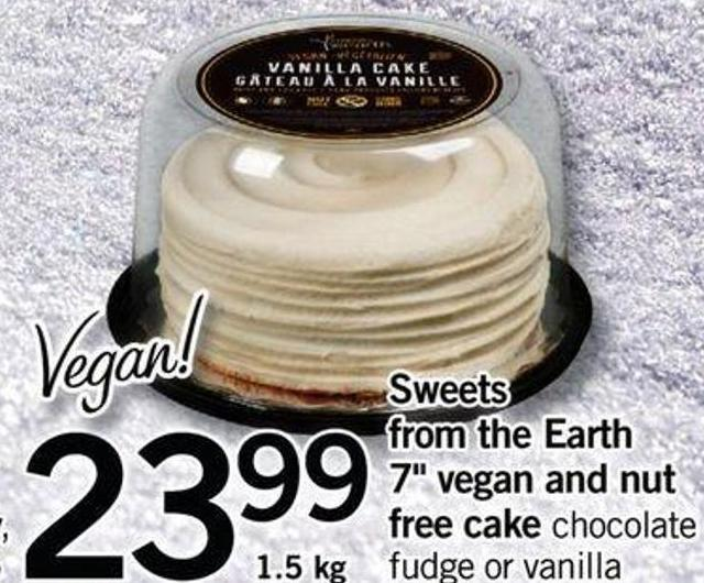 Sweets From The Earth 7in Vegan And Nut Free Cake - 1.5 Kg