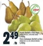 Organic Bartlett Or Bosc Pears