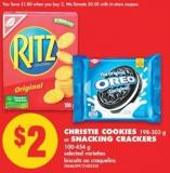 Christie Cookies 198-303 g or Snacking Crackers 100-454 g
