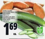Seedless Cucumber Product Of Ontario - Canada No. 1 Grade
