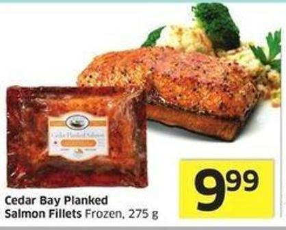Cedar Bay Planked Salmon Fillets Frozen - 275 g