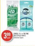 Excel (4's) or Tic Tac Multipack Mints