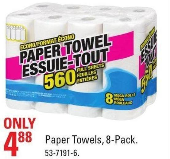 Paper Towels - 8-pack