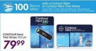Contour Next Test Strips 100 Pk - 100 Air Miles Bonus Miles