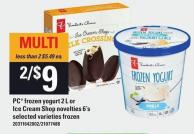 PC Frozen Yogurt 2 L Or Ice Cream Shop Novelties 6's