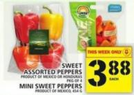Sweet Assorted Peppers Or Mini Sweet Peppers