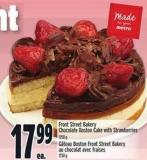 Front Street Bakery Chocolate Boston Cake With Strawberries 1250 g