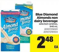 Blue Diamond Almonds Non Dairy Beverage - 946 mL