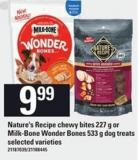 Nature's Recipe Chewy Bites 227 G Or Milk-bone Wonder Bones 533 G Dog Treats