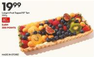 Longo's Fruit Topped 10in Tart  550g