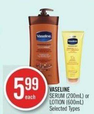 Vaseline Serum (200ml) or Lotion (600ml)