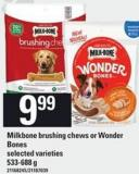 Milkbone Brushing Chews Or Wonder Bones - 533-688 G