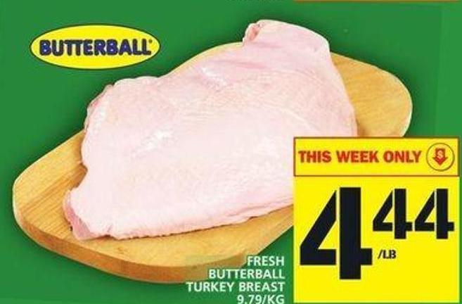 Fresh Butterball Turkey Breast