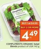 Compliments Organic Salad Blends Product of USA 142 g