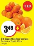 3 Lb Bagged Seedless Oranges Product of South Africa