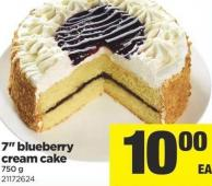 7in Blueberry Cream Cake - 750 g