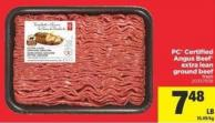 PC Certified Angus Beef Extra Lean Ground Beef