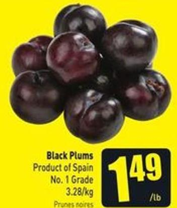 Black Plums Product of Spain No. 1 Grade 3.28/kg